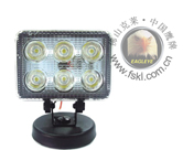 LED Heavy Duty Work Lamps 18W Square